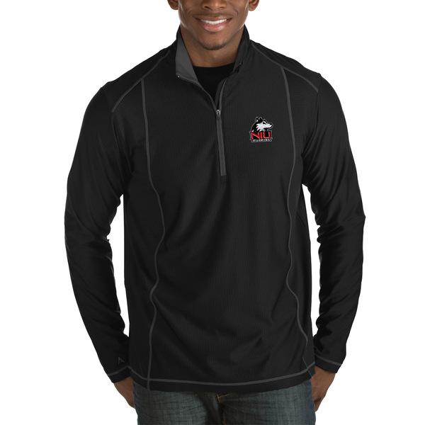 アンティグア メンズ ジャケット&ブルゾン アウター Northern Illinois Huskies Antigua Tempo HalfZip Pullover Big & Tall Jacket Black