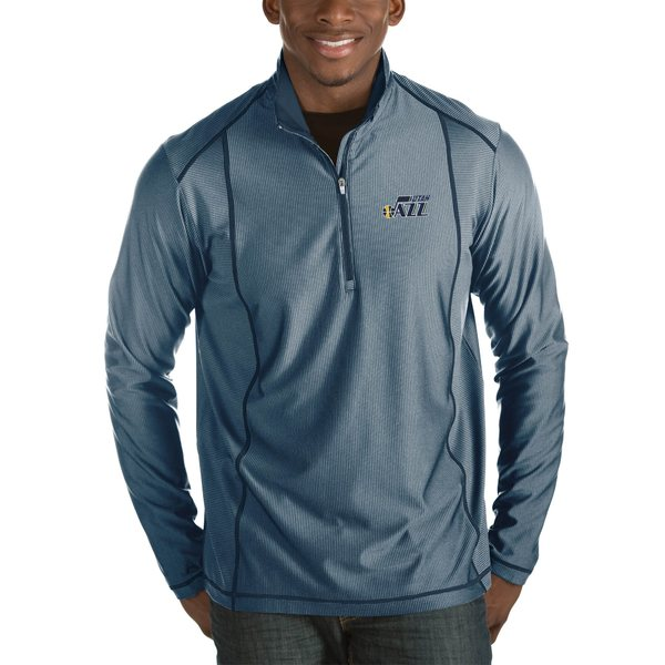 アンティグア メンズ ジャケット&ブルゾン アウター Utah Jazz Antigua Tempo Big & Tall HalfZip Pullover Jacket Charcoal