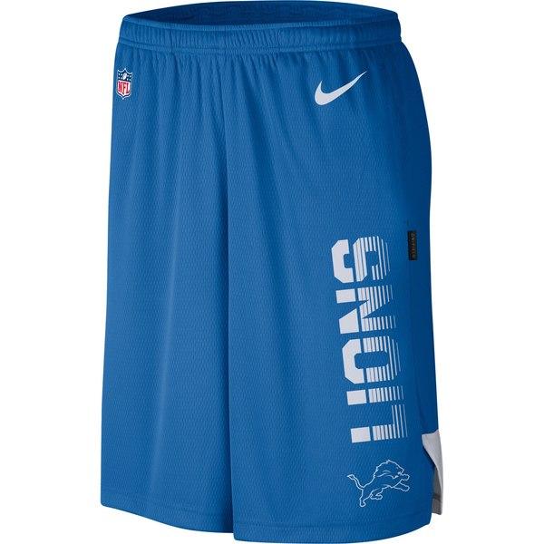 ナイキ メンズ ハーフ&ショーツ ボトムス Detroit Lions Nike Sideline Player Knit Performance Shorts Blue:asty