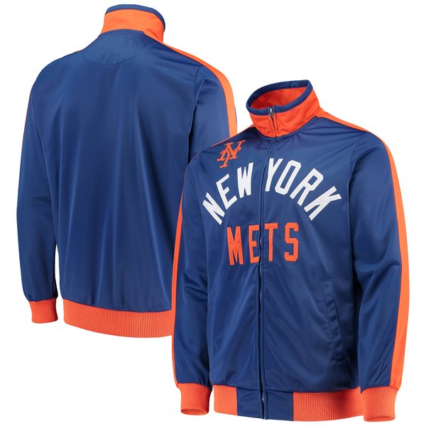 カールバンクス メンズ ジャケット&ブルゾン アウター New York Mets GIII Sports by Carl Banks Final Four FullZip Track Jacket Royal