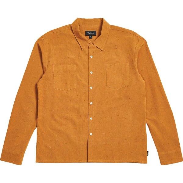ブリクストン メンズ シャツ トップス Cruze Woven Long-Sleeve Shirt Desert