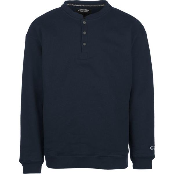 アーバーウェア メンズ シャツ トップス Double Thick Crew Sweatshirt Navy