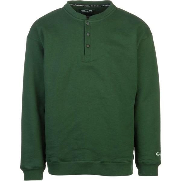 アーバーウェア メンズ シャツ トップス Double Thick Crew Sweatshirt Forest Green