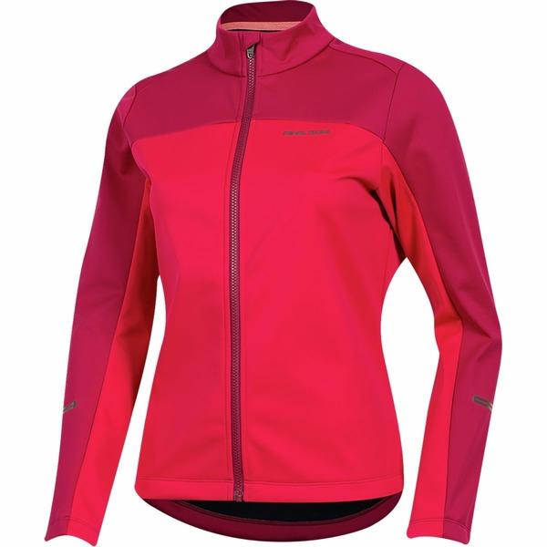 パールイズミ レディース サイクリング スポーツ Quest Amfib Jacket Cerise/Beet Red