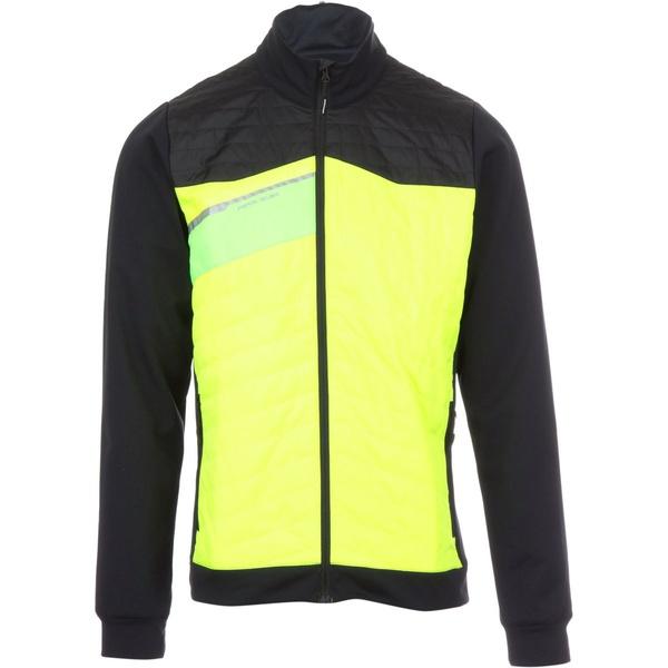 パールイズミ メンズ ジャケット&ブルゾン アウター Flash Insulator Run Jacket Screaming Yellow/Black