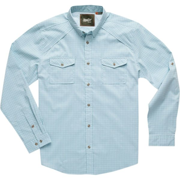 ハウラーブラザーズ メンズ シャツ トップス Firstlight Tech Button-Down Shirt Primer Plaid: Pale Blue