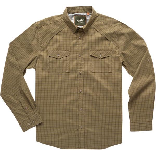 ハウラーブラザーズ メンズ シャツ トップス Firstlight Tech Button-Down Shirt Primer Plaid: Moss