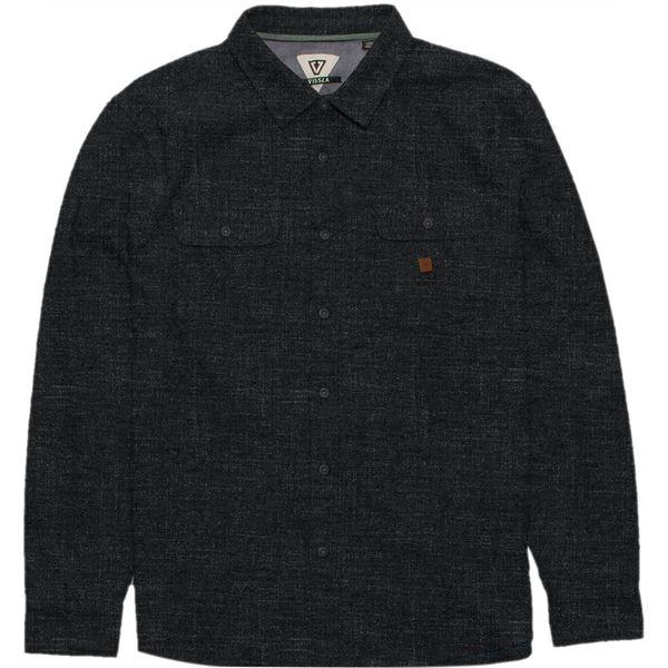 ヴィスラ メンズ シャツ トップス Isolation Long-Sleeve Flannel Shirt Black