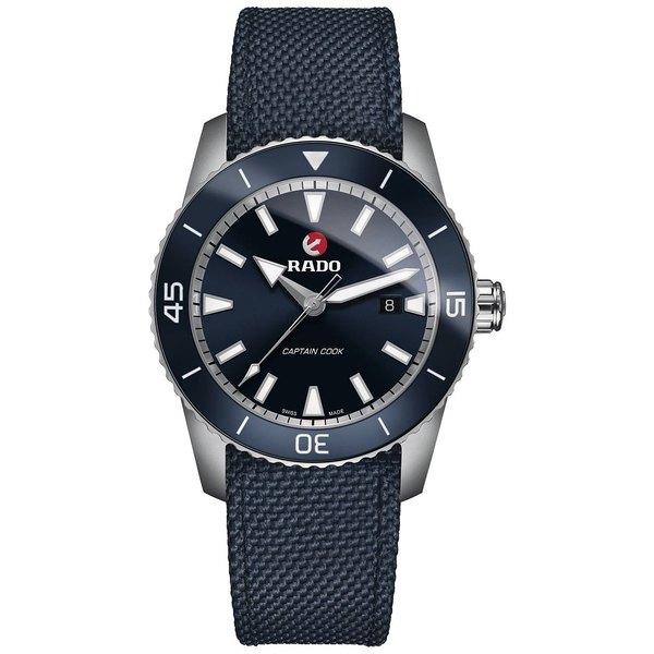 ラド メンズ アクセサリー 帽子 Blue 美品 全商品無料サイズ交換 Men's Swiss Cook 商舗 Strap Watch HyperChrome Captain Fabric Automatic 45mm