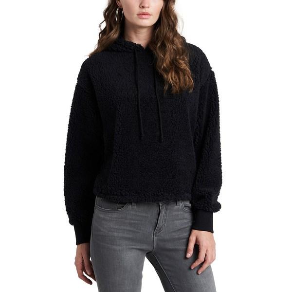 ワンステイト レディース アウター 保障 パーカー スウェットシャツ Rich Cropped Hoodie Black 全商品無料サイズ交換 AL完売しました。 Teddy