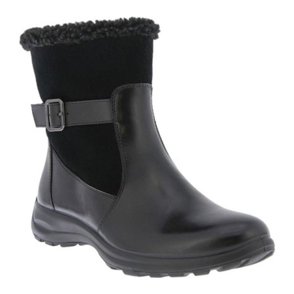 フレクサス レディース ブーツ&レインブーツ シューズ Ennix Waterproof Boot Black Full Grain Leather/Suede
