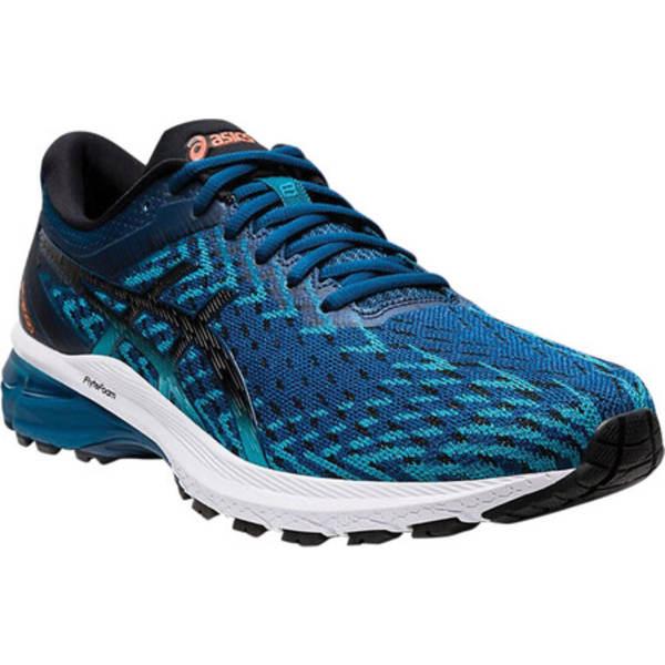 アシックス メンズ スニーカー シューズ GT-2000 8 Knit Running Sneaker Mako Blue/Black