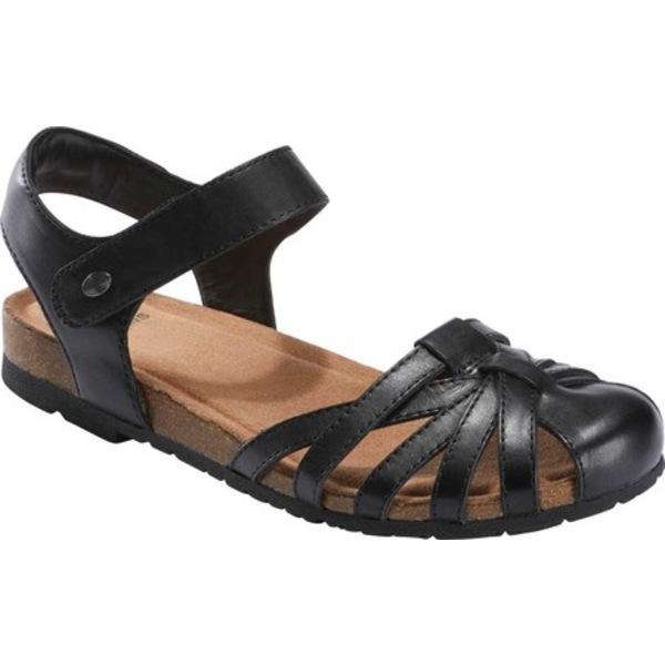 アースオリジン レディース サンダル シューズ Lyndon Lana Closed Toe Sandal Black Eco Calf Leather