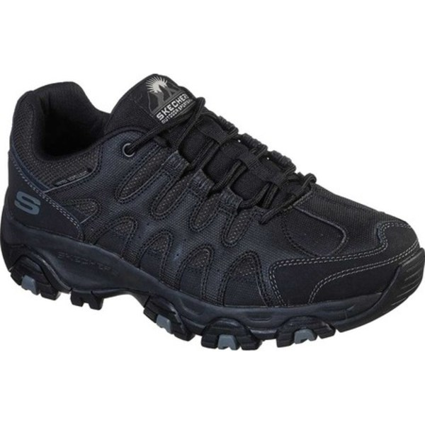 スケッチャーズ メンズ ブーツ&レインブーツ シューズ Relaxed Fit Terrabite Trail Shoe Black/Black