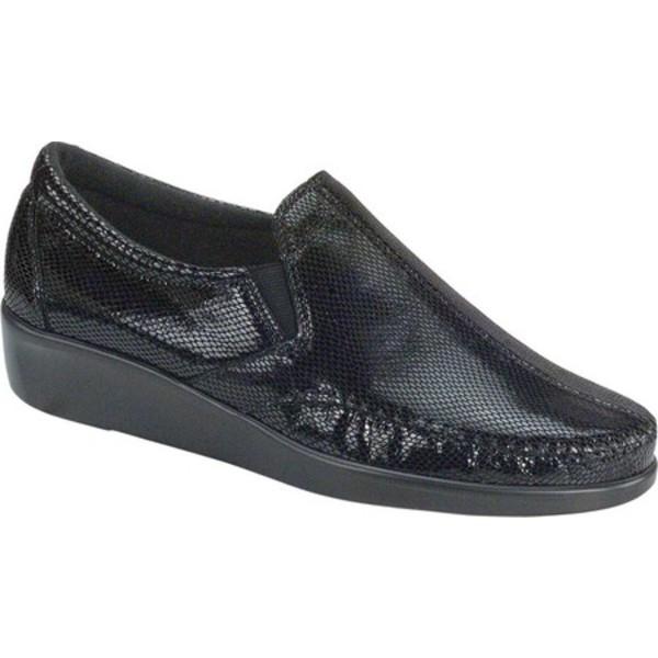 エスエーエス レディース スリッポン・ローファー シューズ Dream Slip On Loafer Black Snake Leather
