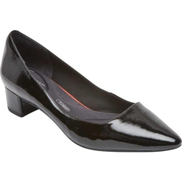 ロックポート レディース オックスフォード シューズ Total Motion Gracie Pointed Toe Pump Black Patent Leather
