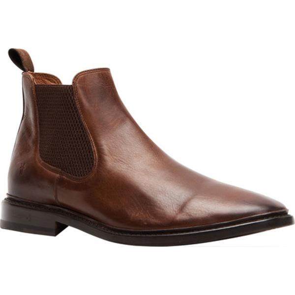 フライ メンズ ブーツ&レインブーツ シューズ Paul Chelsea Boot Dark Brown Antique Pull Up Leather