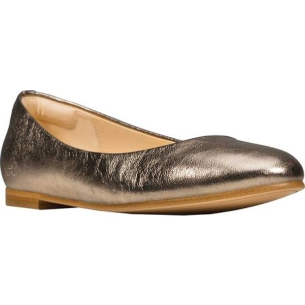クラークス レディース サンダル シューズ Grace Piper Ballet Flat Stone Full Grain Leather