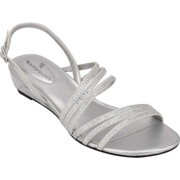 バンドリーノ レディース サンダル シューズ Tillya Slingback Wedge Sandal Silver Twinkle Fabric