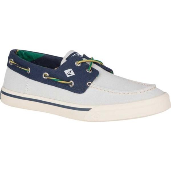 トップサイダー メンズ デッキシューズ シューズ Bahama II Varsity Boat Sneaker Grey/Navy Textile