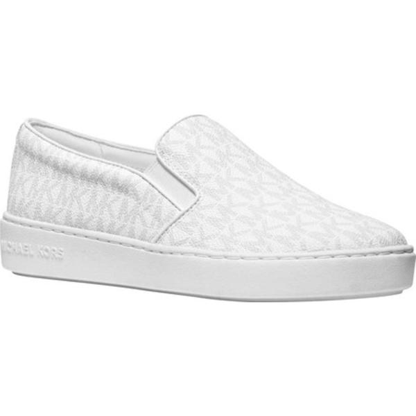 マイケルコース レディース スニーカー シューズ Keaton Slip On Sneaker Bright White Coated Textile