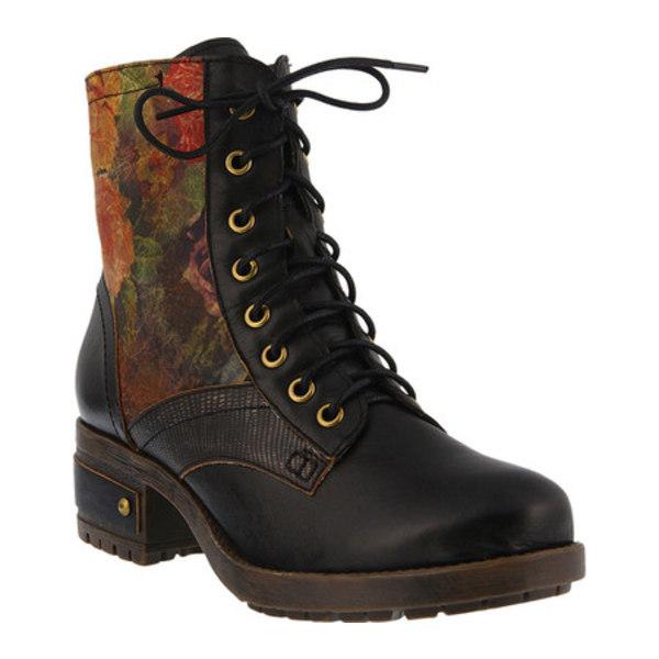 スプリングステップ レディース ブーツ&レインブーツ シューズ Marty Lace Up Boot Black Leather
