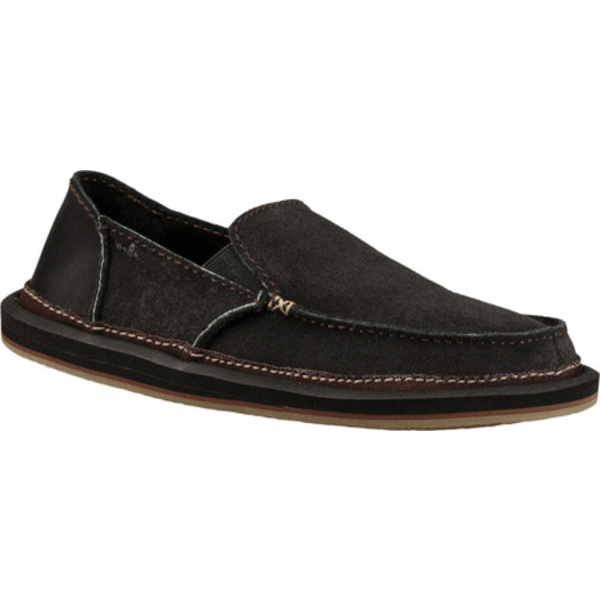 サヌーク メンズ ブーツ&レインブーツ シューズ Vagabond Artesano Moc Toe Slip On Black Leather
