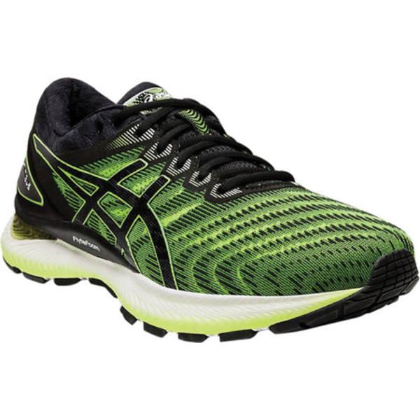 アシックス メンズ スニーカー シューズ GEL-Nimbus 22 Running Sneaker Safety Yellow/Black