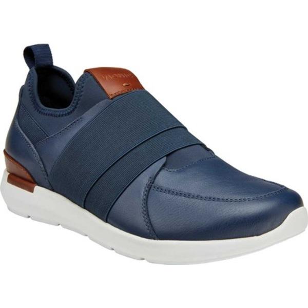 バイオニック メンズ スニーカー シューズ Jackson Slip On Sneaker Navy Leather