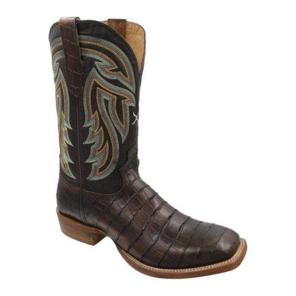 ツイステッド エックス メンズ ブーツ&レインブーツ シューズ MRAL018 Rancher Cowboy Boot Chocolate Gator Print with Cuts/Chocolate Leather