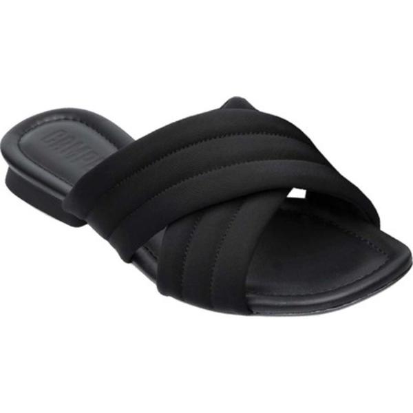 カンペール レディース サンダル シューズ Casi Myra Slide Black Technical Polyester