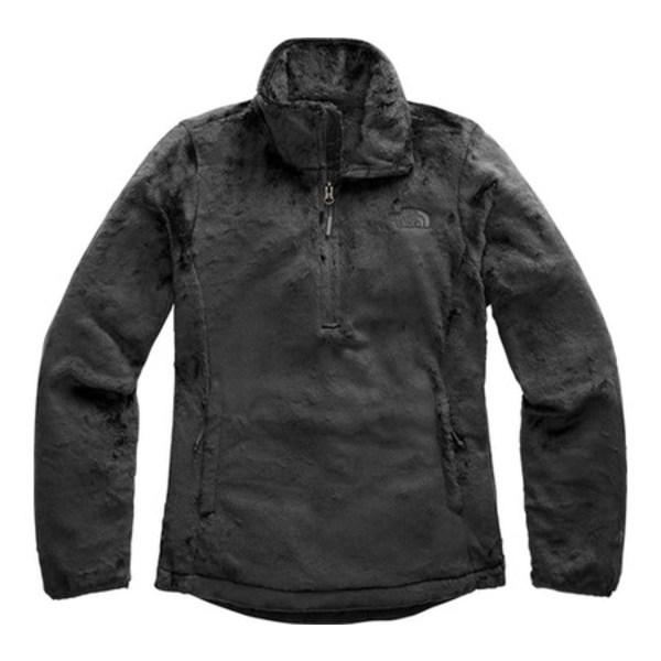 ノースフェイス レディース パーカー・スウェットシャツ アウター Osito Quarter Zip Pullover Asphalt Grey