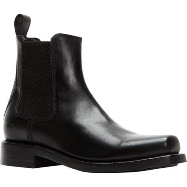 フライ メンズ ブーツ&レインブーツ シューズ Conway Chelsea Boot Black Vintage Veg Tan Leather
