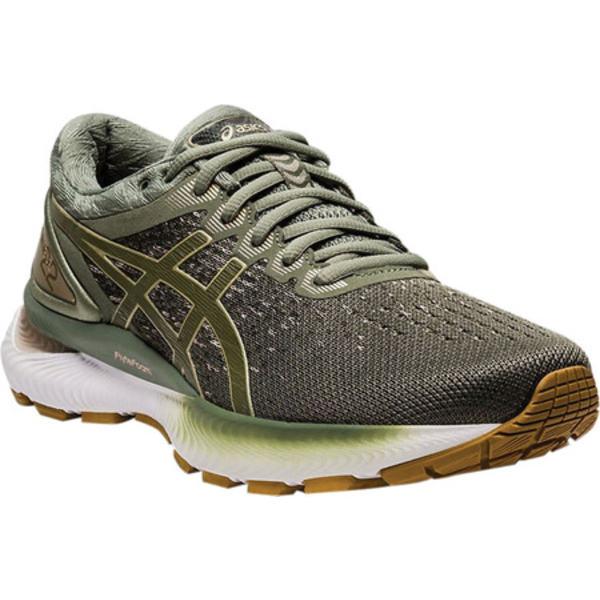 アシックス レディース スニーカー シューズ GEL-Nimbus 22 Knit Running Sneaker Lichen Green/Mantle Green