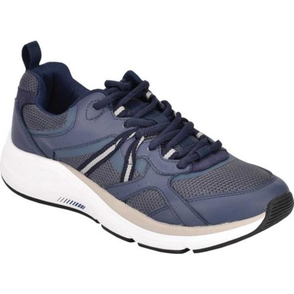 イージースピリット レディース スニーカー シューズ Outrun Wedge Sneaker Blue Leather/Mesh