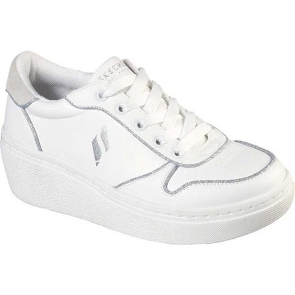スケッチャーズ レディース スニーカー シューズ Goldie Hi Follow The Line Sneaker White