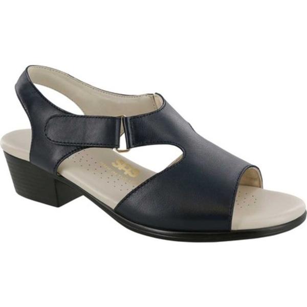 エスエーエス レディース サンダル シューズ Suntimer Heeled Sandal Navy Leather