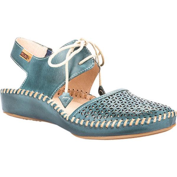 ピコリーノス レディース サンダル シューズ Puerto Vallarta Lace Up Sandal 655-0695 Petrol Leather
