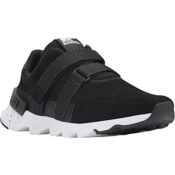 ソレル レディース スニーカー シューズ Kinetic Lite Strap Sneaker Black Perforated Suede