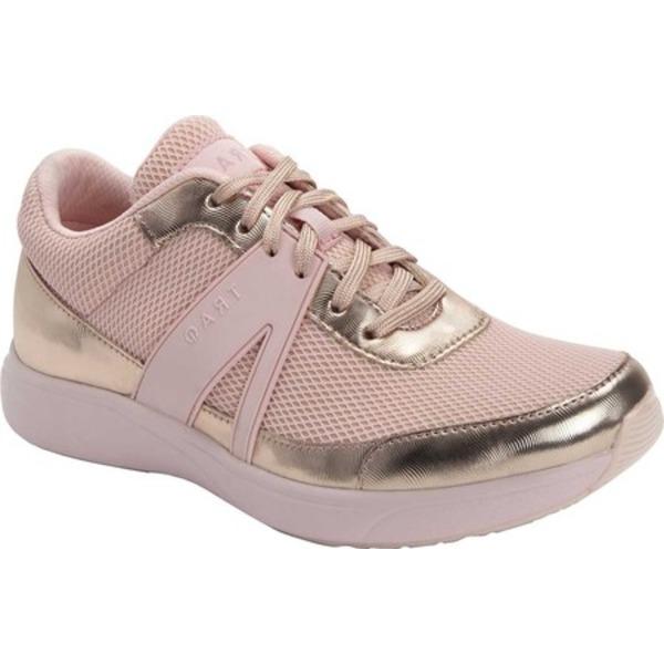 アレグリア レディース スニーカー シューズ TRAQ Qarma Sneaker Rose Golden Leather