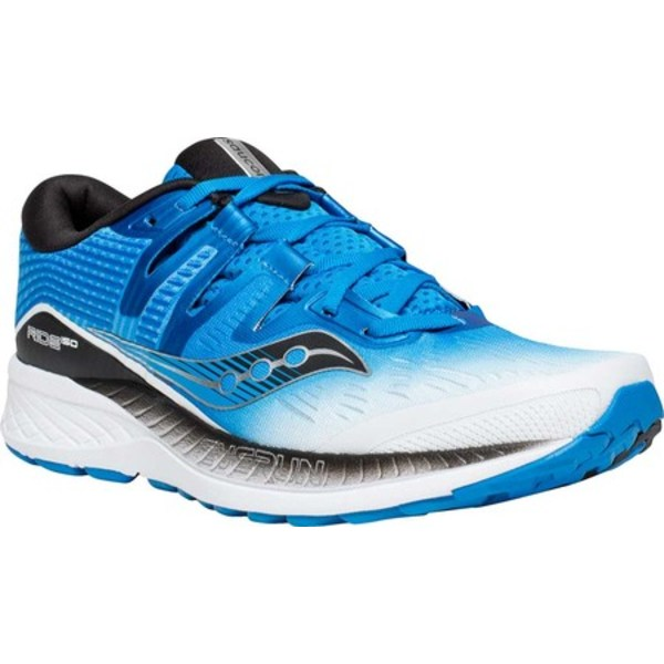 サッカニー メンズ スニーカー シューズ Ride ISO Running Shoe White Black Bluev0NymnOPw8