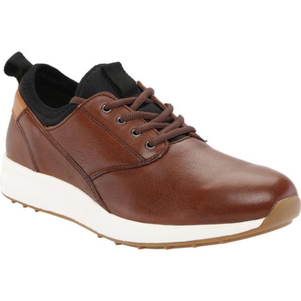 ジョンストンアンドマーフィー メンズ スニーカー シューズ Keating Plain Toe Sneaker Tan Tumbled Full Grain Leather