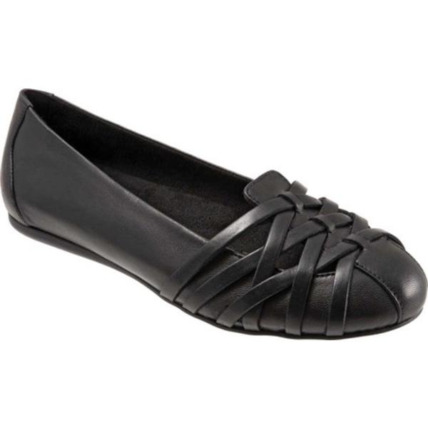 ソフトウォーク レディース サンダル シューズ St Lucia Flat Black Leather