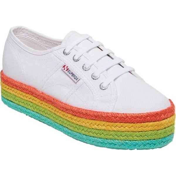 スペルガ レディース スニーカー シューズ 2790 Rainbow Espadrille Platform Sneaker Rainbow Leather
