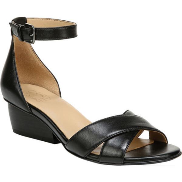 ナチュライザー レディース サンダル シューズ Caine Ankle Strap Sandal Black Leather