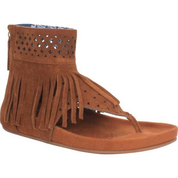 ディンゴ レディース サンダル シューズ Heat Wave Fringe Thong Sandal DI 139 Tan Suede