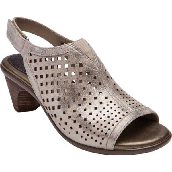 アラヴォン レディース サンダル シューズ Medici Peep Slingback Sandal Metallic Dove Leather
