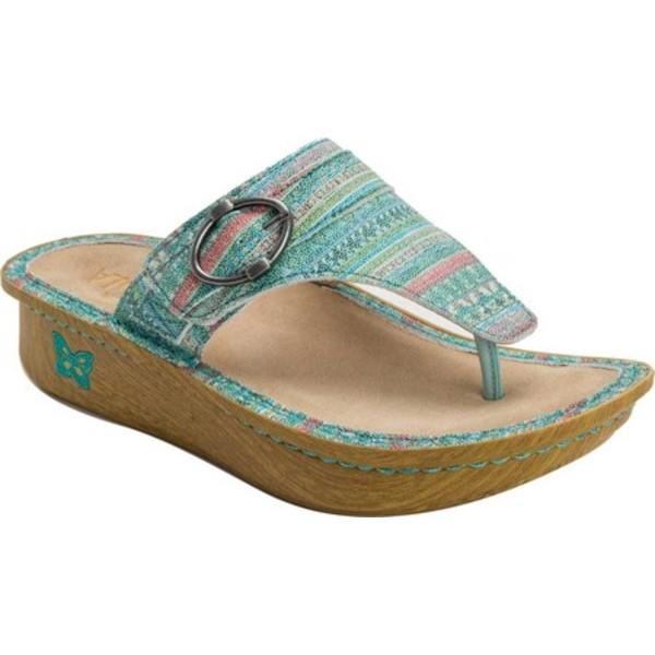 アレグリア レディース サンダル シューズ Codi Thong Sandal Seascape Leather