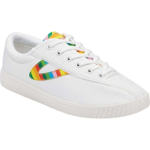 トレトン レディース スニーカー シューズ Nylite28Plus Sneaker Vintage White/Rainbow Canvas