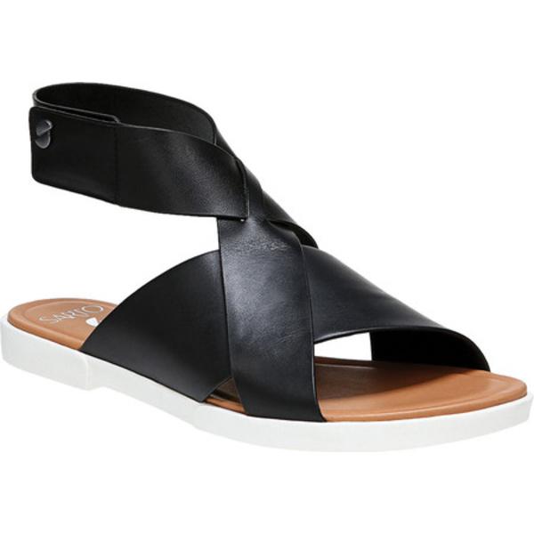 サルトバイフランコサルト レディース サンダル シューズ Akasha Ankle Strap Sandal Black Vachetta Leather